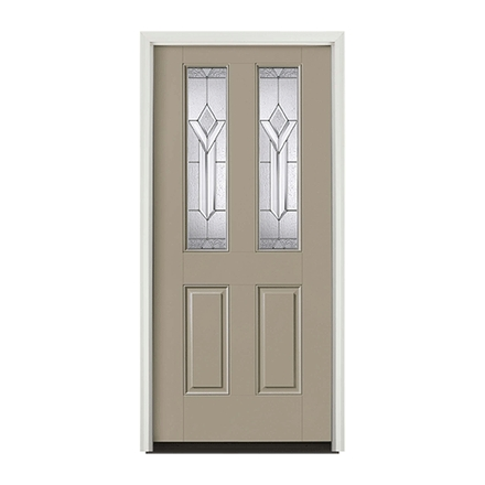 Encompass by Pella Twin 1/2 Light Entry Door with Glass